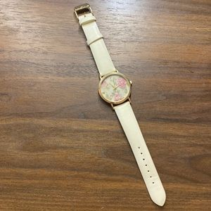 Francesca's Collection White Floral Watch